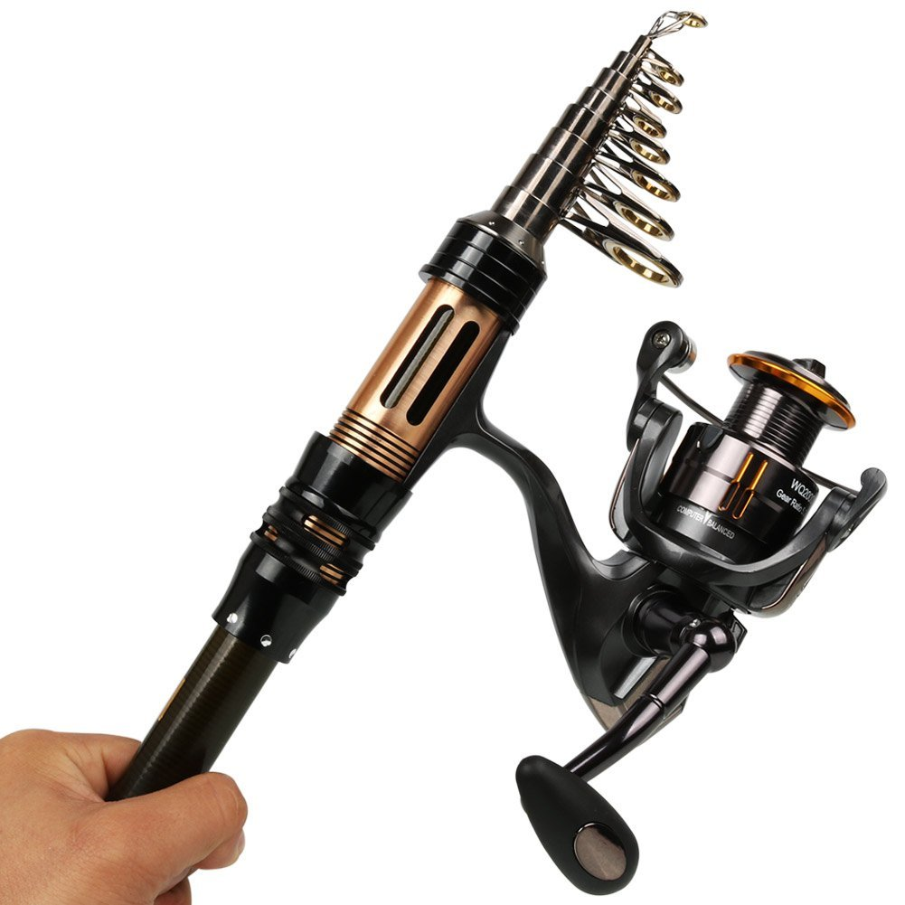 Mini spinning fishing rod and reel combos portable pocket for Mini fishing reel